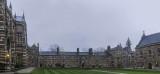 Liddon Quad - Keble College on a rainy day