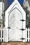 White church gate, Georgetown, TX
