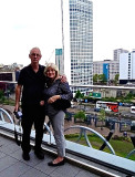 On a terrace at the new Birmingham City Library