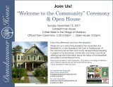 Damskammer - Welcome to the Community Ceremony and Open House