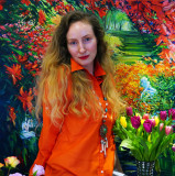 My Lovely Wife Vlada on the Personal Art Exhibiton