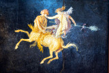 Fresco of Amazon Riding Centaurus