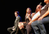John Fugelsang and Stephanie Miller performing at Hunter College