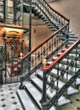 Beautiful staircase of the hotel