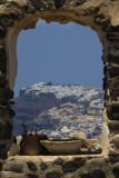 Imerovigli and Fira seen from Pyrgos