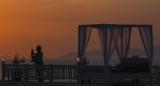 Sunset silhouette, Oia