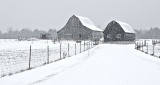 Barns In Spring Snowfall DSCN03756