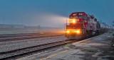 Tanker Train In Dawn Fog P1220062