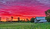 Barn In Sunrise P1220441-3