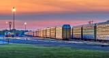 Rail Yard At Sunrise P1230641