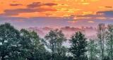 Clouded Sunrise Over Ground Fog P1230996-03