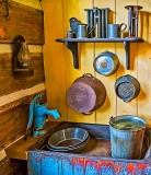 Old Log House Kitchen Sink P1270144-6