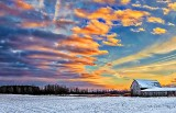 Snowy Barn At Sunrise DSCN18207-9