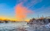 Misty Rideau River At Sunrise P1040731-7