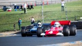 2 F 5000 cars in turn two at Sonoma.