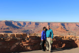 Dickie and Eun Hee at Deadhorse Point