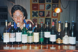 Playing the wine bottles