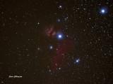 Nébuleuse tête de cheval Bernard 33 /  In the belt of Orion nebula horse head