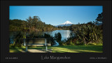 Egmont from Lake Mangamahoe - New Plymouth