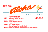 Aloha Airlines 10 Year Reunion
