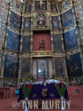 The altar screen at the Ex-Convento San Francisco