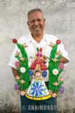 Nacho Peralta holding incense burner