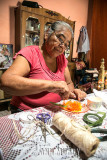 Maria Felix making the semillas
