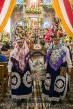 Carrying processional float with Santo Nino