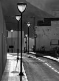 A well lit street