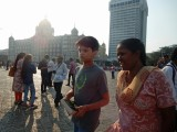 Rahil and Anna at the Gateway of India