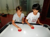 Air hockey with pal George