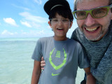 With Dad in the Maldives