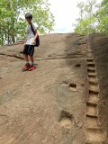 Climbing up Sigiriya Rock in Sri Lanka