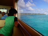 Approaching the hotel in the Maldives