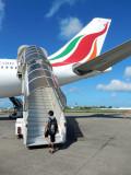Leaving the Maldives on Sri Lankan Air