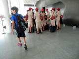 Amidst the Emirates staff