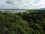 View from Heritance toward Lake Kandalama and Sigiriya Rock in central Sri Lanka