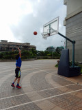 Basketball downstairs