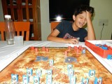 Realizing he is about to lose at Stratego
