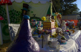 Backstage yard sale?  Nope, tea party.