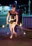 Becca Strong fire hoop Luxor