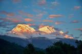 Huascaran at sunset