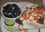 Delicious Catfish Tacos at Everett Street Diner in Bryson City, North Carolina