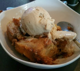 Pecan Bread Pudding with Butter Pecan Ice Cream