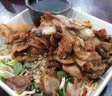 Deliciously Plentiful Noodle Salad with Pork at Wild Ginger Restaurant