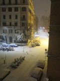 26 Feb 2018 5.00am, 4 inches of snow in Rome