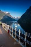 Queen Victoria entering Geirangerfjord, Norway