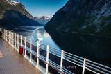 Queen Victoria entering Norwegian Geirangerfjord
