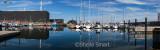 Panorama of boats in Skagen Harbour