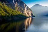 Seven sisters waterfall in Norwegian fjords